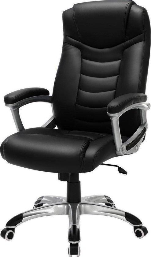 Acaza Luxe Design Manager Bureaustoel - Ergonomische Directiestoel - Kunstleer - Zware Belasting