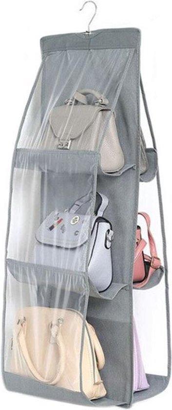 Hand Tassen Organizer voor kleding kast met Haak   genoeg voor 6 tassen en overige accesoires   Dames schoudertassen Opberger