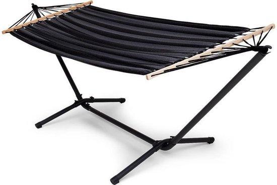HOME hangmat met standaard - Extra stabiel - 290 x 100 cm