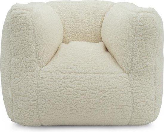Jollein fauteuiltje Beanbag Teddy cream white