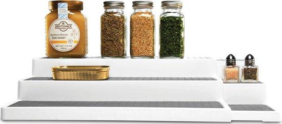Madesmart Keukenkast Organizer Uitschuifbaar - 3 etages - Wit