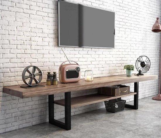 Tv meubel industrieël/Massief- Hout/Metaal