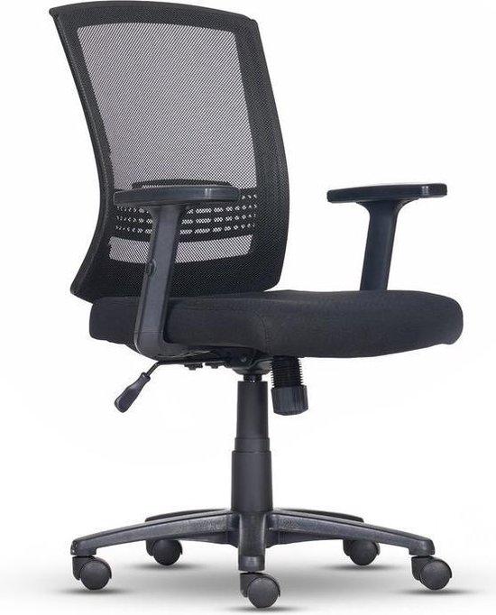 Luxe Ergonomische Bureaustoel - Verstelbare Armleuning - Mesh - Zwart - Comfort Foam