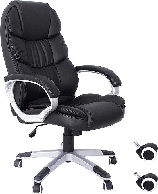 Luxe Manager Bureaustoel - Ergonomisch en Afstelbaar - Directiestoel voor Kantoor - Zwart