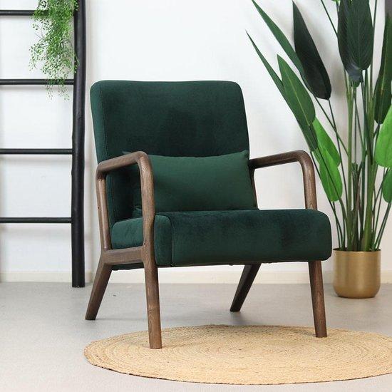 Velvet fauteuil Bibi - donkergroen